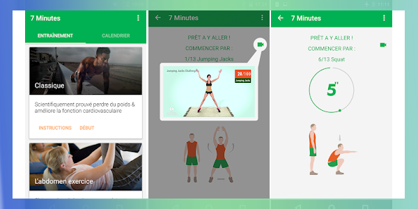 7 minutes workout application