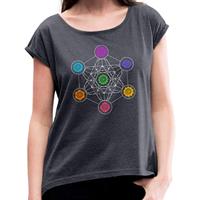 T-shirt yoga métatron chakras