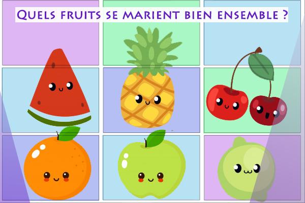 combinaison quels fruits se marient bien ensemble